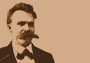 Nietzsche - portrait - personnage célèbre - philosophe - politique - homme politique