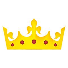 king crown luxxury icon vector illustration design
