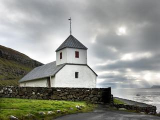 Kirkjubour, Kirche auf den Färöer