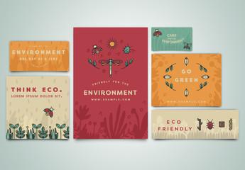6 Environmental Social Media Post Layouts