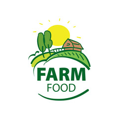 Farm House concept logo full vector
