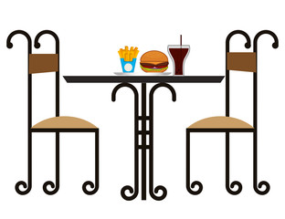 restaurant elegant table with vector illustration design