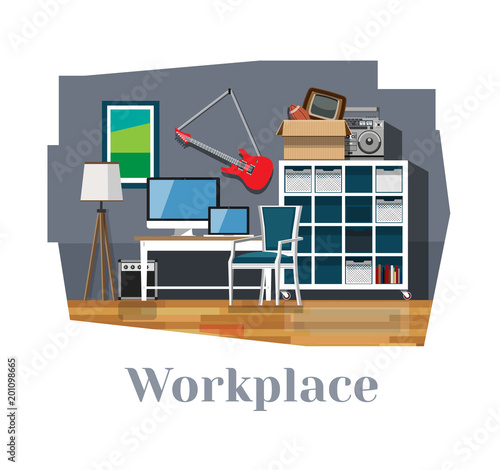 Workplace workplace interior desk chair rack computer laptop desk chair rack computer laptop floor mozeypictures Gallery