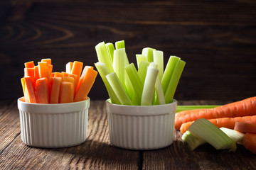 Healthy food - celery and carrot