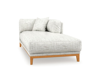 Диван, кровать, изолированных на белом фоне. 3d иллюстрации