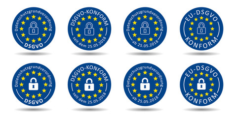 Reihe DSGVO Buttons