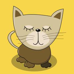 cute cat illustration vector for kids print