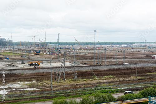 Construction of petrochemical plant  Tobolsk