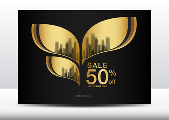 Sale Banner, Billboard, Brochure flyer for cosmetics, Banner design Template vector illustration, display, advertisement layout, poster, card, Cover, magazine ads, annual report, catalog, backdrop, A4