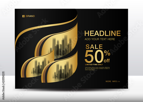 sale banner billboard brochure flyer for cosmetics banner design