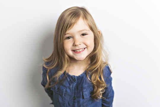 Cute portrait of a 3 years old girl, Cute caucasian