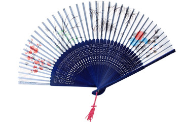 Chinese wooden silk fan