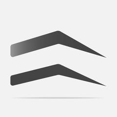 Vector eyebrow icon. Vector illustration on a gray background