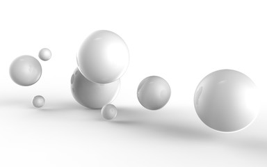 Abstract 3d shapes on background. 3d image. 3d rendering.