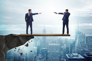 Partnership and teamwork concept with two businessmen