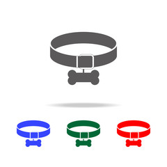 dog collar icon. Elements of dogs multi colored icons. Premium quality graphic design icon. Simple icon for websites, web design; mobile app, info graphics