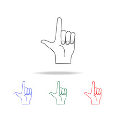 hand sign point up icon. Elements of hands multi colored icons. Premium quality graphic design icon. Simple icon for websites, web design; mobile app, info graphics