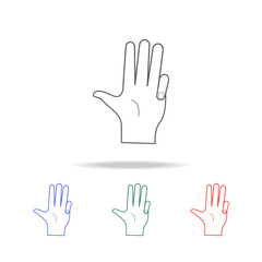 hand sign covered little finger icon. Elements of hands multi colored icons. Premium quality graphic design icon. Simple icon for websites, web design; mobile app, info graphics