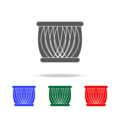 Indian drum icon. Elements of Indian culture multi colored icons. Premium quality graphic design icon. Simple icon for websites, web design, mobile app, info graphics