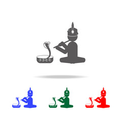 snake charmer icon. Elements of Indian culture multi colored icons. Premium quality graphic design icon. Simple icon for websites, web design, mobile app, info graphics