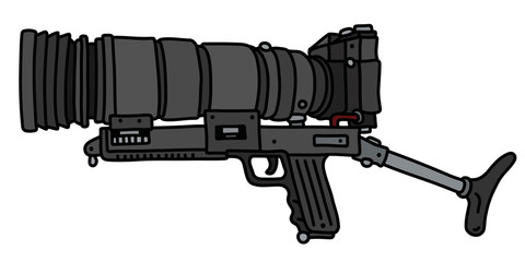 The black large photo gun