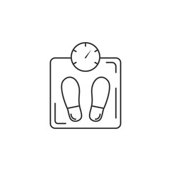 Human Scale icon. Simple element illustration. Human Scale symbol design template. Can be used for web and mobile