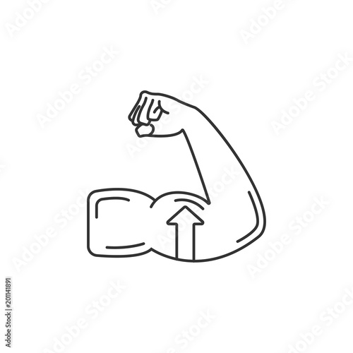 enlarging muscle icon simple element illustration enlarging muscle