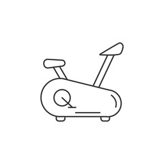 Exercise cycle icon. Simple element illustration. Exercise cycle symbol design template. Can be used for web and mobile