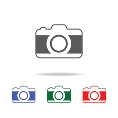 camera icon. Elements of photo camera in multi colored icons. Premium quality graphic design icon. Simple icon for websites, web design, mobile app, info graphics