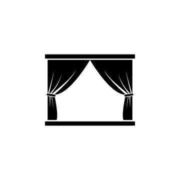 scene and curtains icon. Element of theater and art illustration. Premium quality graphic design icon. Signs and symbols collection icon for websites, web design, mobile app