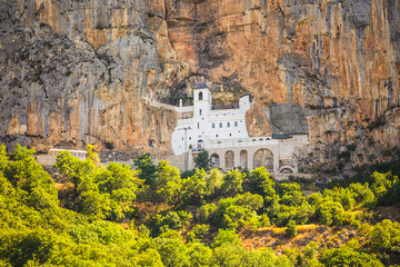 Montenegro.  Monastery Ostrog in the mountains