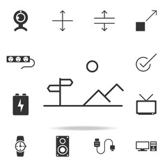 Mountain Sign Icon Line. Detailed set of web icons. Premium quality graphic design. One of the collection icons for websites, web design, mobile app