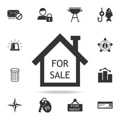 home for sale icon. Detailed set of web icons. Premium quality graphic design. One of the collection icons for websites, web design, mobile app