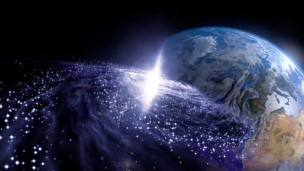 地球と銀河