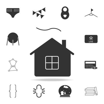 Village house silhouette icon. Detailed set of web icons. Premium quality graphic design. One of the collection icons for websites, web design, mobile app