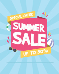 Summer sale concept party night