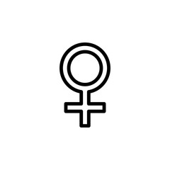 sign of a woman icon. Element of minimalistic icons for mobile concept and web apps. Thin line icon for website design and development, app development