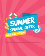 Summer sale marketing banner party