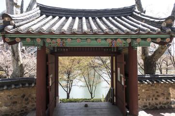 Korean Tradition door and wall