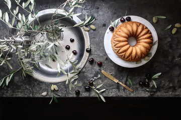 Olive Oil and Cherry Cake