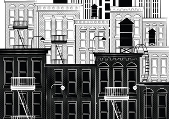 Vector illustration of a sketch of new york