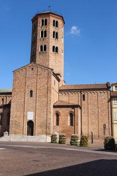 Tower of Sant Antonino Basilica in Piacenza, Italy