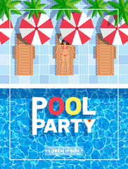 pool party vertical poster design
