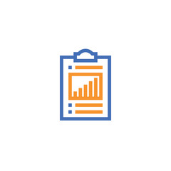 check list outline icon. isolated document paper icon in thin line style for graphic and web design. Simple flat symbol Pixel Perfect vector Illustration.