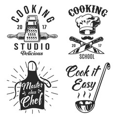Set of cooking emblem