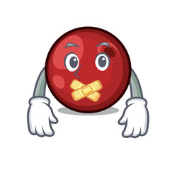 Silent cranberry mascot cartoon style