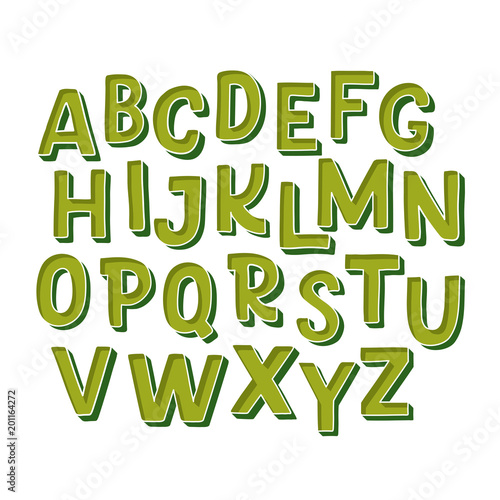Cute hand drawn alphabet made in vector  Doodle letters for
