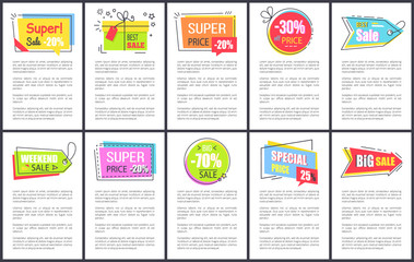 Super and Best Weekend Sale on Vector Illustration