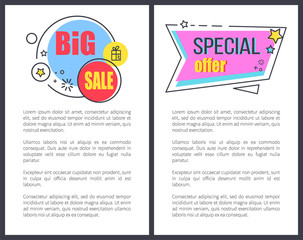 Big Sale Special Offer Promo Sticker Stars Advert