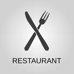 Restaurant icon. Restaurant symbol. Flat design. Stock - Vector illustration